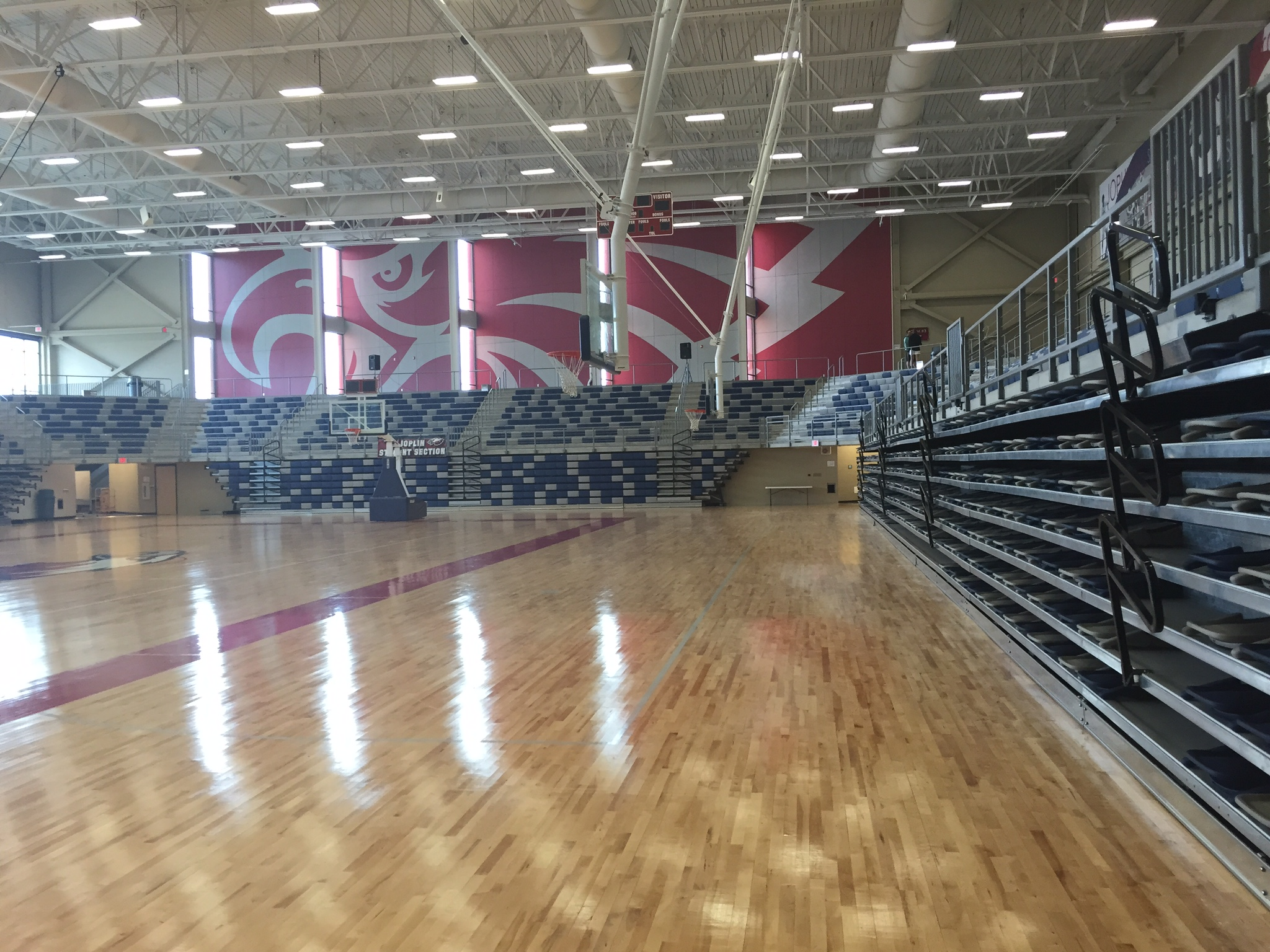 Hussey Gym Bleachers by Carroll Seating