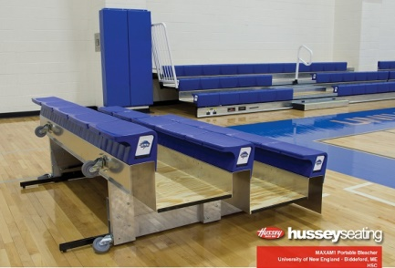 Look into Portable bleachers from Carroll Seating Company
