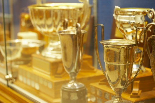 Look into a new school trophy case by Carroll Seating Company