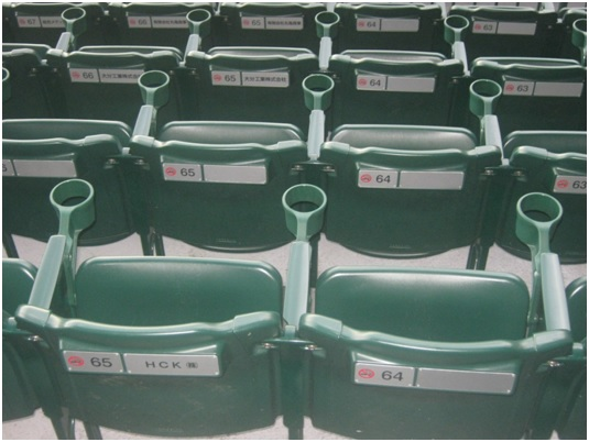 stadium seats with cup holders by carroll seating company