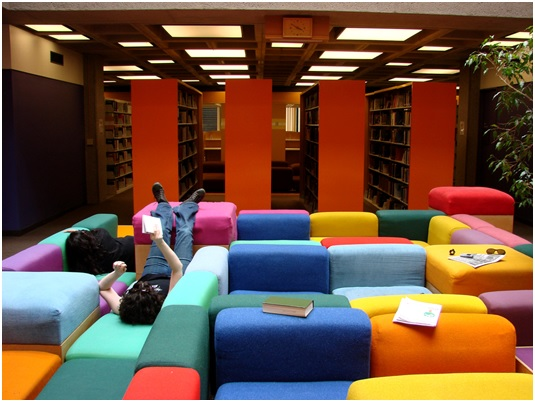 stylish library seating by Carroll Seating Company